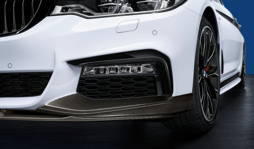 BMW 5 serie G30 en G31 M Performance zwarte sierlijsten voorbumper origineel BMW