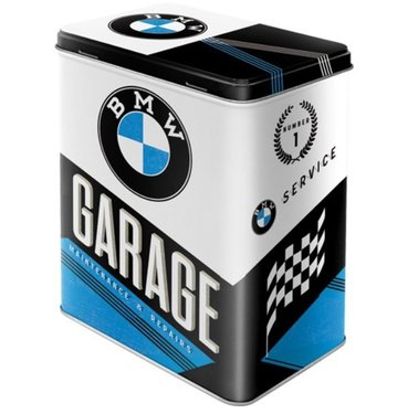 BMW Tin box garage 15 cm x 20 cm