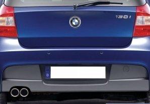 Diffusor t.b.v. M pakket achterbumper dubbele uitlaat links BMW 1 serie E87 origineel BMW