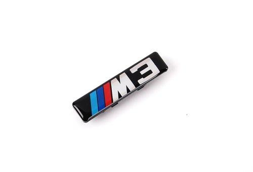 BMW 3 serie E46 M3 embleem inclusief houder tbv kieuwen origineel BMW