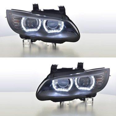 BMW 3 serie E92 en E93 xenon angel eyes koplampen wit DTM style