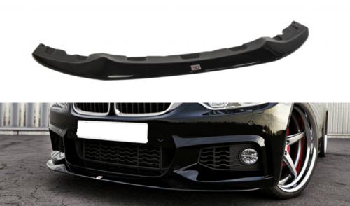 BMW 4 serie F32 en F33 glanzend zwarte frontspoiler M pakket model 2013 - 2019