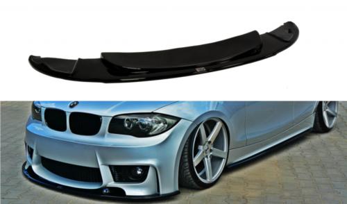BMW 1 serie E81 E82 E87 E88 EVO bumper front lip glanzend zwart Maxton Design