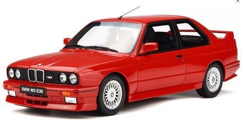 BMW E30 M3 schaalmodel rood schaal 1:18