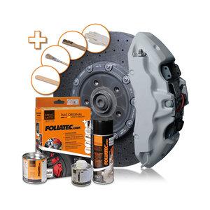 Foliatec Remklauwlakset - circuit grijs glanzend - 3 Componenten