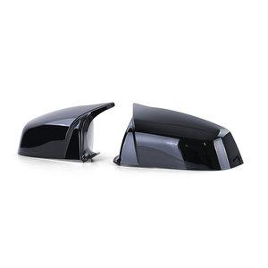 BMW 5 serie E60 E61 EVO look spiegelkappen glanzend zwart