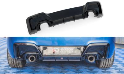 BMW 1 serie F20 en F21 135i diffusor glanzend zwart M pakket Maxton Design