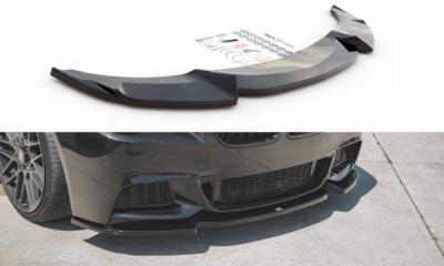 Maxton Design BMW 5 serie F10 en F11 frontsplitter glanzend zwart M pakket model 2010 - 2017 versie 3