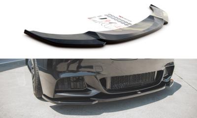 Maxton Design BMW 5 serie F10 en F11 frontsplitter glanzend zwart M pakket model 2010 - 2017 versie 4