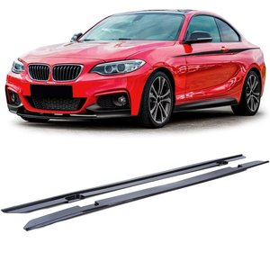 BMW 2 serie F22 en F23 aanzet sideskirts glanzend zwart