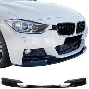 BMW 3 serie F30 en F31 performance look frontspoiler glanzend zwart