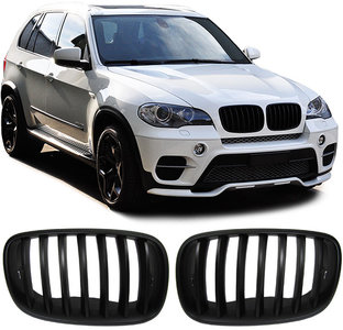 bmw x5 e70 en x6 e71 mat zwarte nieren. Black Bedroom Furniture Sets. Home Design Ideas