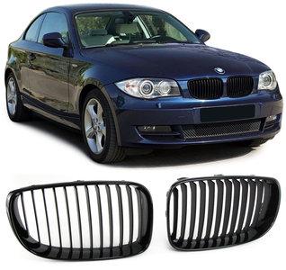 BMW 1 serie E81 E82 E87 LCI en E88 glanzend zwarte nieren